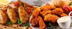 Mega porce kuřecích křidélek nebo mini řízečků