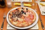 Dvě pizzy či těstoviny a dva nealko nápoje