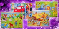 Dětské dřevěné puzzle pro kluky i holky