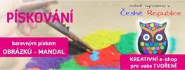 Kreativní sada s barevným pískem