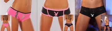 Vánoční balíček Playboy – troje svůdné kalhotky