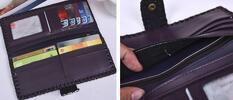 Podlouhlé dámské peněženky s potiskem