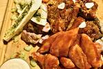1,5 kg masa a příloh pro partu 4 jedlíků