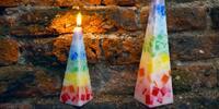 Ručně vyráběná čakrová svíčka