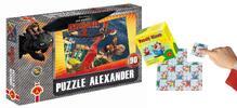 Pohádková puzzle a hlavolam s veselými klauny
