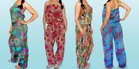 Vzorované dámské overaly v zářivých barvách