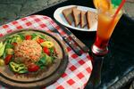 Vegetataráček s topinkami, salátkem a 2 drinky