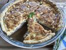 Slaný koláč quiche s sebou na piknik či oslavu