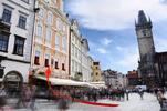 Káva a štrúdl přímo na Staroměstském náměstí