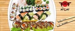 29 nebo 39 kousků sushi, zázvor, wasabi a salát