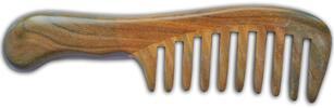 Dřevěné hřebeny z guajakového dřeva