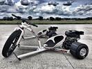 10 min. driftu na prototypu motorové tříkolky