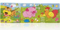 Set tří puzzle z dřevěné překližky pro nejmenší