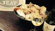 6 čerstvých ústřic z Francie a lahev vína pro 2