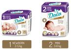 Až 104 ks novorozeneckých plenek DADA do 5 kg
