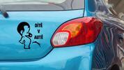 Samolepky na auto s vlastním textem