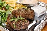 Hovězí rump steak vč. salátu a příloh pro dva