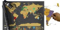 Stírací mapa ve dvou barevných provedeních