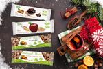 Vánoční BIO energetické a proteinové tyčinky
