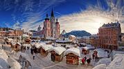 Advent v rakouském Mariazellu s průvodem čertů