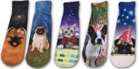 Balíček 5 párů dámských ponožek se zvířátky