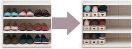 Výškově nastavitelné stojany na boty