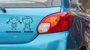 Samolepky na auto vašich potomků se jmény