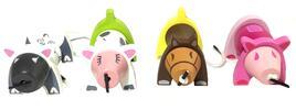 Dětská dřevěná navlékačka - 4 zvířátka v balení
