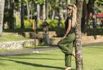Pohodlné harémové kalhoty vyrobené na Bali