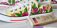 Speciální tenisky + 5 barevných fixek na textil