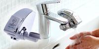 Bezdotykový spořič vody na kohoutek k umyvadlu