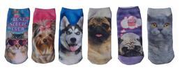 Kocour i pes v botách: dětské ponožky se zvířátky