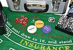 Pokerové sety v kufru: míchačka i 1000 ks žetonů