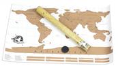 Stírací mapy světa pro cestovatele