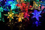 Vánoční LED osvětlení: bílý řetěz, hvězda i déšť