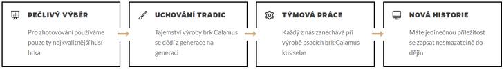 Tradiční husí brka a propisky Calamus