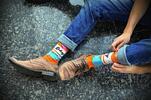 Hravé barevné ponožky české výroby