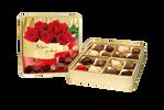 Valentýnské dárkové sady pravých belgických čokolád a pralinek