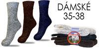 Balení 3 párů hřejivých ponožek z ovčí vlny