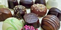 Belgické pralinky a truffles v domečcích